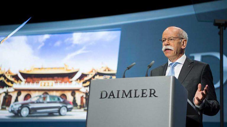 Daimler-Chef Zetsche begrüßt Förderung der Elektromobilität