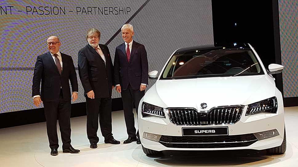 Skoda-Chef Bernhard Maier (l.) und VW-Chef Matthias Müller (r.)
