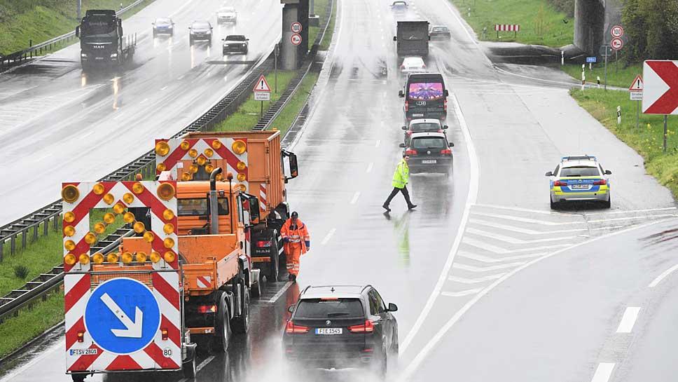 Zahlreiche Baustellen stoppen den Verkehrsfluss
