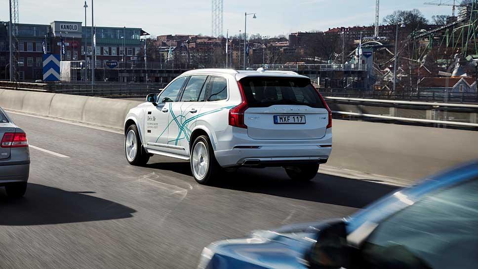 Volvo XC90 als Drive me-Testwagen in Göteborg unterwegs