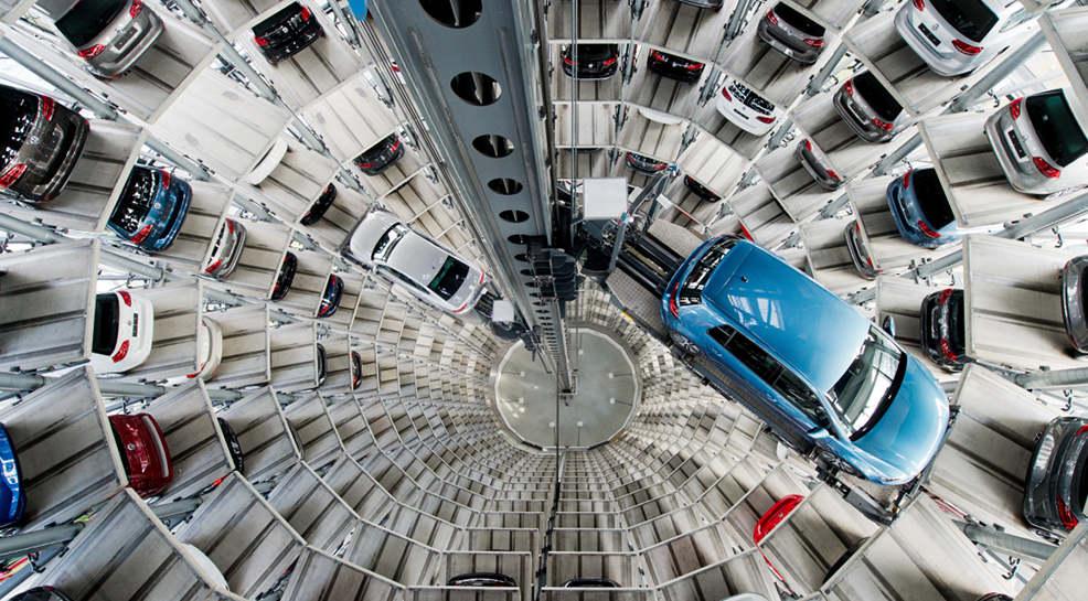 Auslieferungsturm von VW in Wolfsburg.