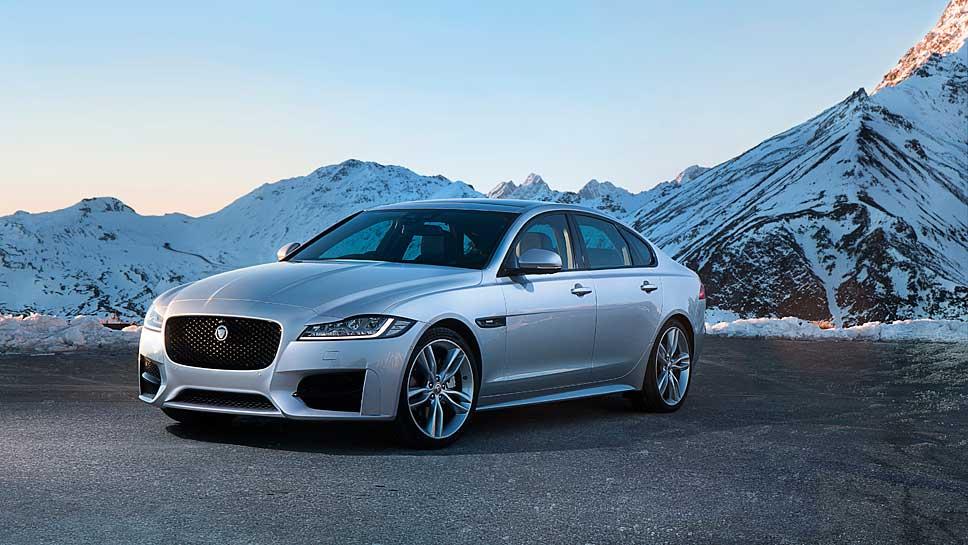 Jaguar stattet den XF-Diesel mit Allradantrieb aus.