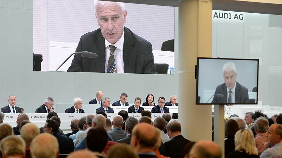 VW-Chef Matthias Müller auf der Audi Hauptversammlung