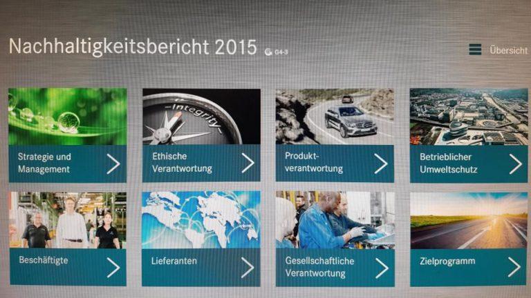 Daimler muss Nachhaltigkeitsbericht korrigieren