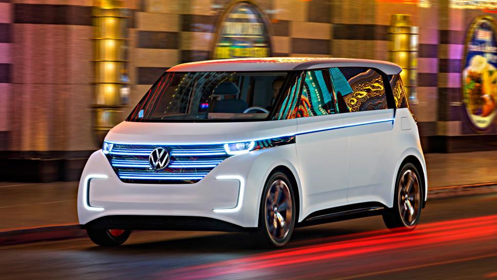 Der VW Budd-e wurde auf der CES vorgestellt.