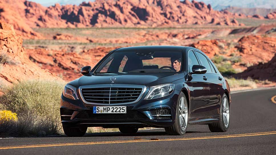 Der Mercedes S 500 ist mit einem Partikelfilter unterwegs