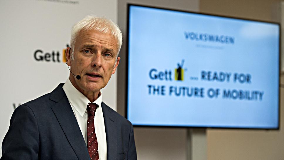VW-Chef Matthias Müller in Berlin.