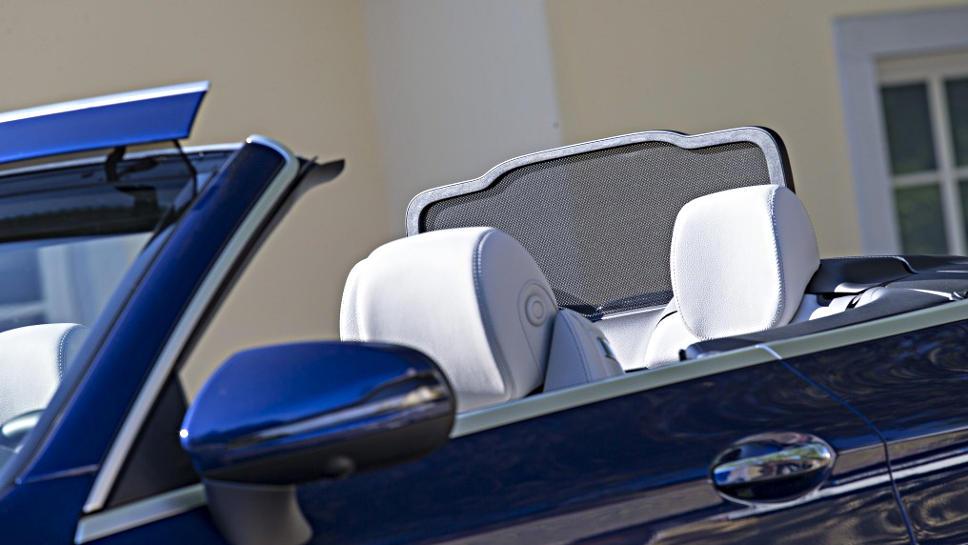 Das Aircap am neuen C-Klasse Cabrio von Mercedes.