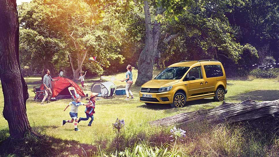 Der VW Caddy Family gibt sich nicht nur praktisch