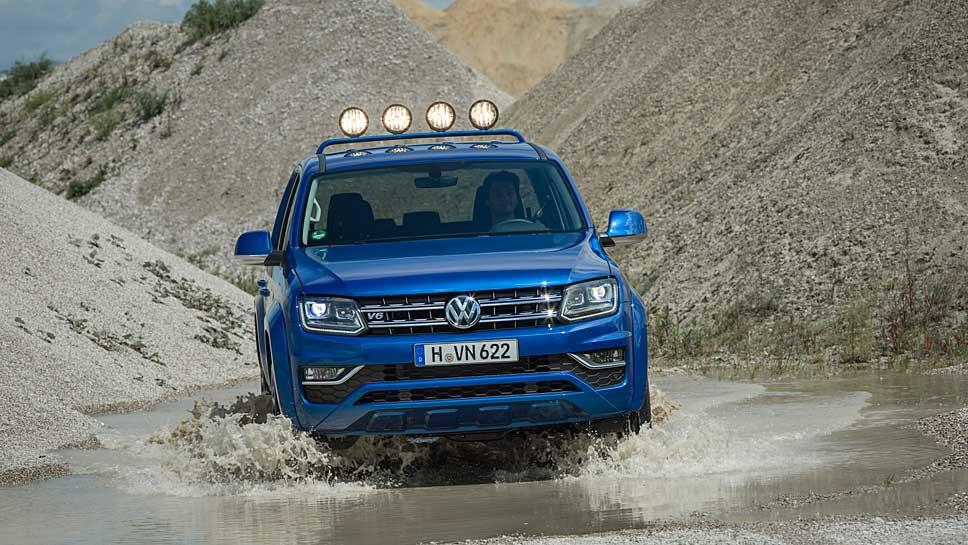 Der VW Amarok kann Offroad wie Onroad