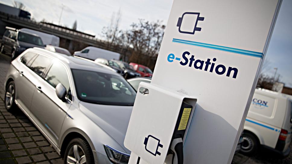 Ladestation für ein E-Auto.