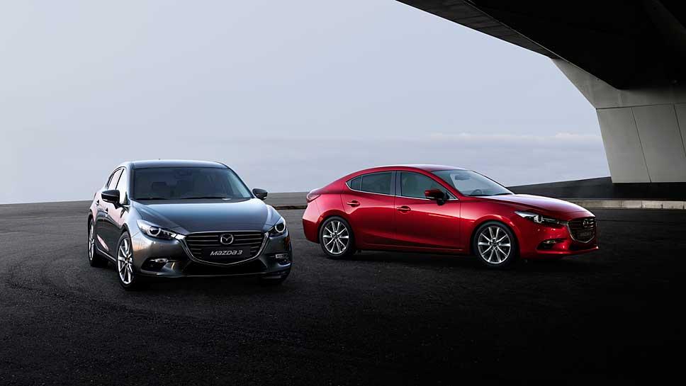 Mazda frischt den Mazda3 für das neue Modelljahr auf
