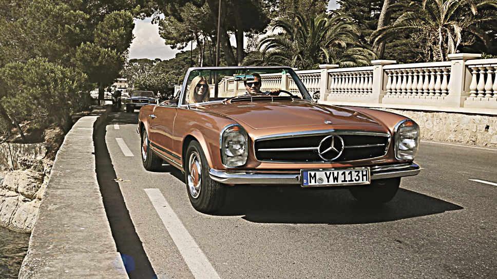 Oldtimer wie dieser Mercedes sollte gut vor Dieben geschützt werden.