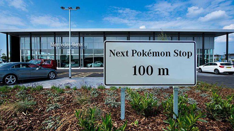 Mercedes lockt mit Pokémons in Showrooms