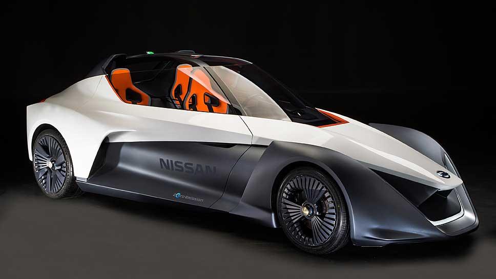 Der Nissan BladeGlider schafft 190 km/h