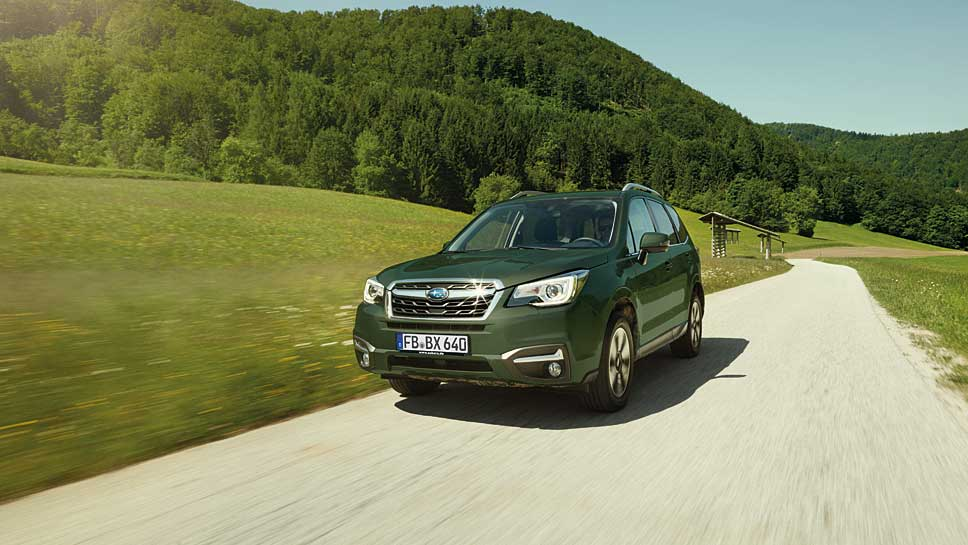 Schick ins Gelände mit dem Subaru Forester Huntergreen