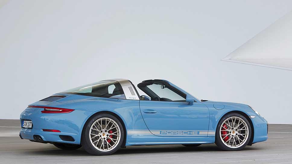 Das Sondermodell des Porsche 911 Targa 4S feiert Premiere am Nürburgring
