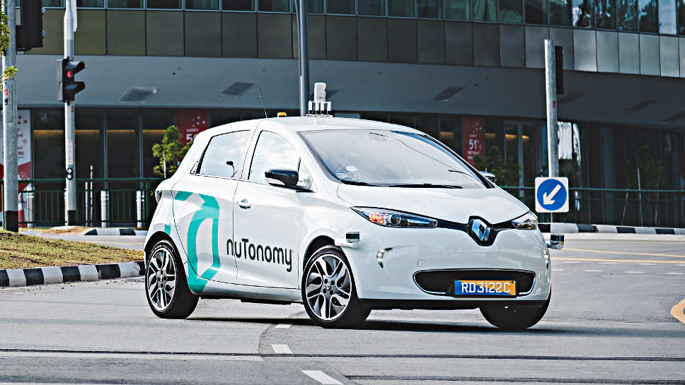 Ein Renault Zoe vom Start-up NuTonomy