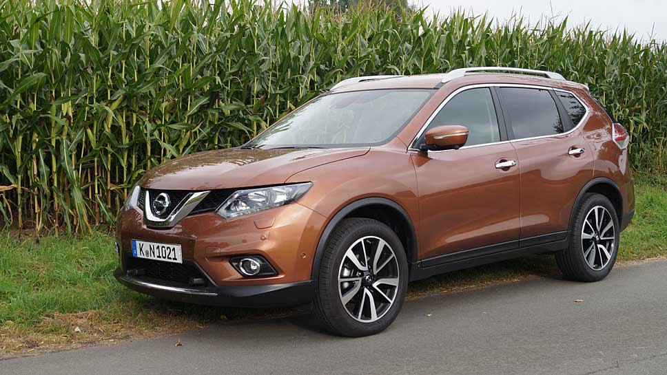 Der Nissan X-Trail zeigt weiterhin Kanten