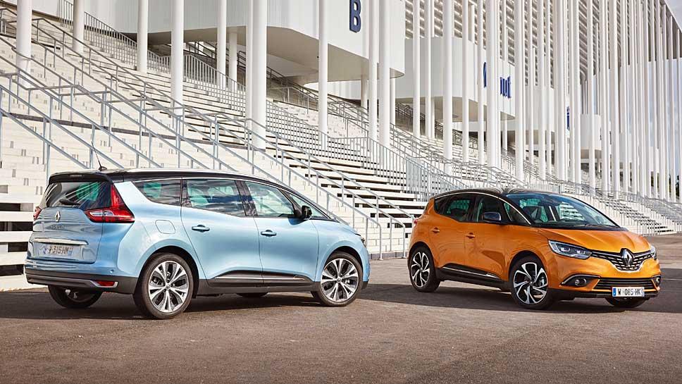 Renault hat der Scénic-Baureihe ein neues Aussehen verschafft