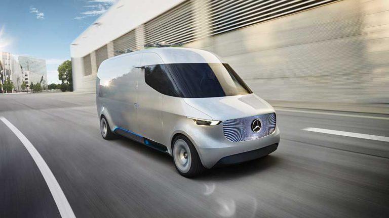 Mercedes Vision Van: Logistikcenter auf Rädern