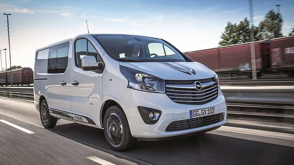 Opel verschafft dem Vivaro einen dynamischen Auftritt