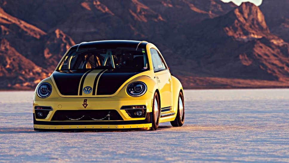 Der VW Beetle fuhr 328 km/h schnell - neuer Rekord.