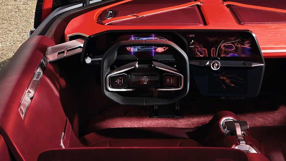 Das futuristische Cockpit des Renault Trezor