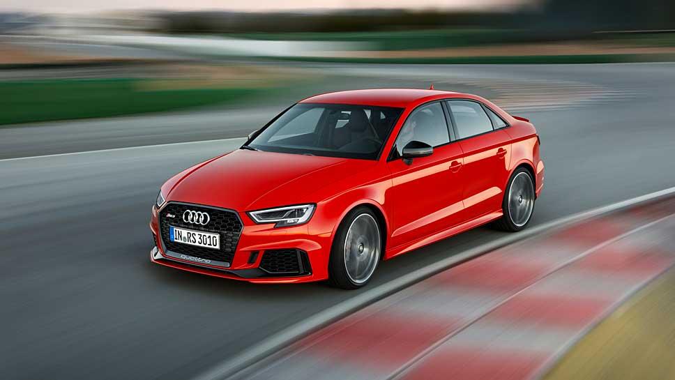 Der Audi RS 3 übertrumpft die Konkurrenz bei den Leistungswerten