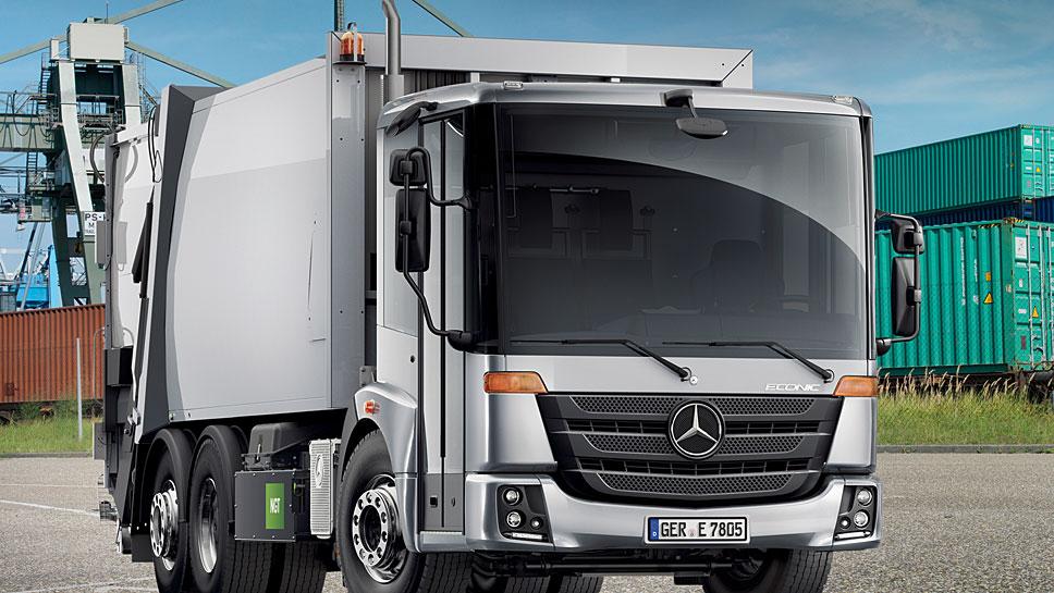 Mercedes setzt für den Stadtverkehr auch Erdgas-Lkw ein