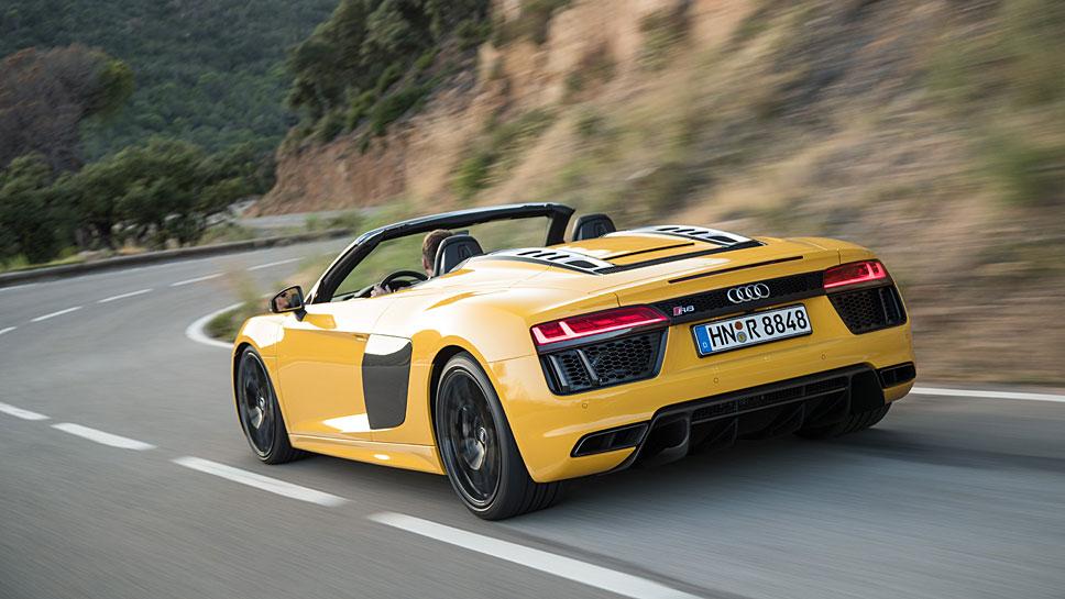 Jederzeit ein Genuss im Audi R8 Spyder V10