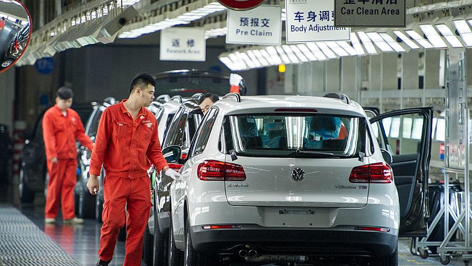 Ein VW-Werk in Shanghai
