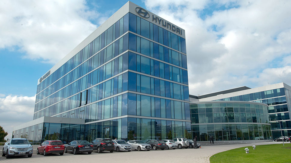 Die Hyundai Deutschland-Zentrale in Offenbach