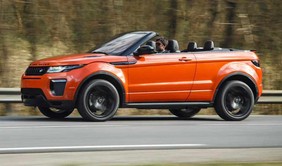 range rover evoque cabrio provozierend anders. Black Bedroom Furniture Sets. Home Design Ideas