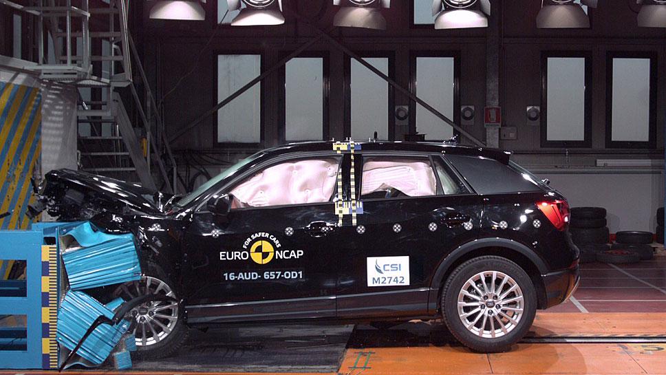 Der Audi Q2 bewältigt den EuroNCAP-Crashtest mit Bravour