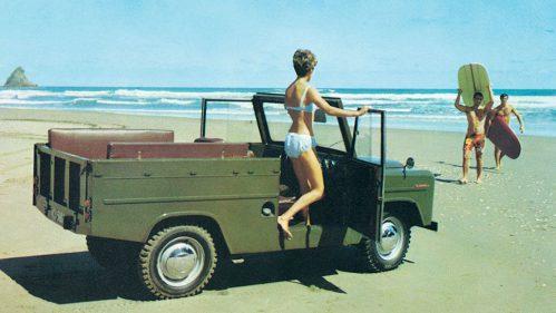 Nicht immer lockte allein das Auto an den Strand