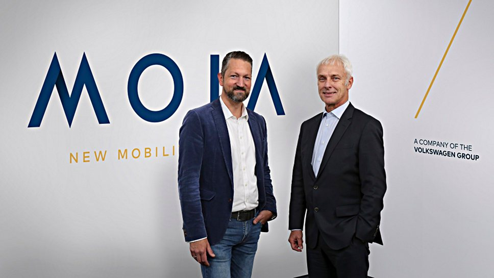 Moia-Chef Ole Harms und VW-Chef Matthias Müller