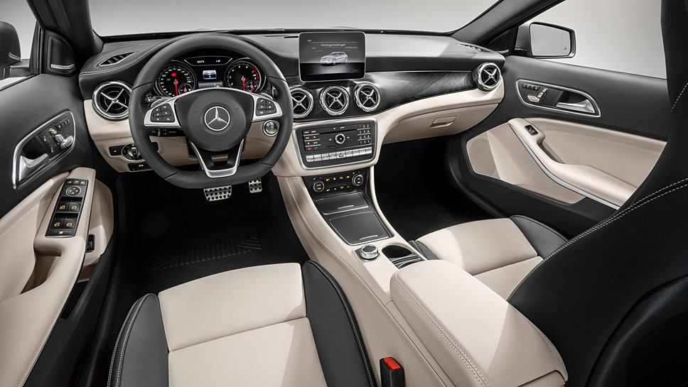 Auch das Cockpit des Mercedes GLA wurde nicht stark verändert