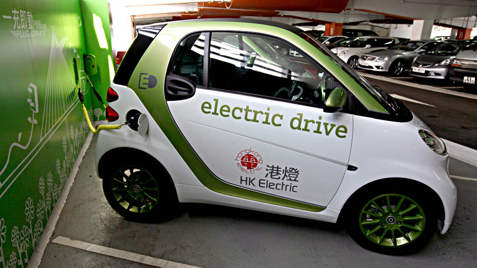 Ein Elektro-Smart in China.