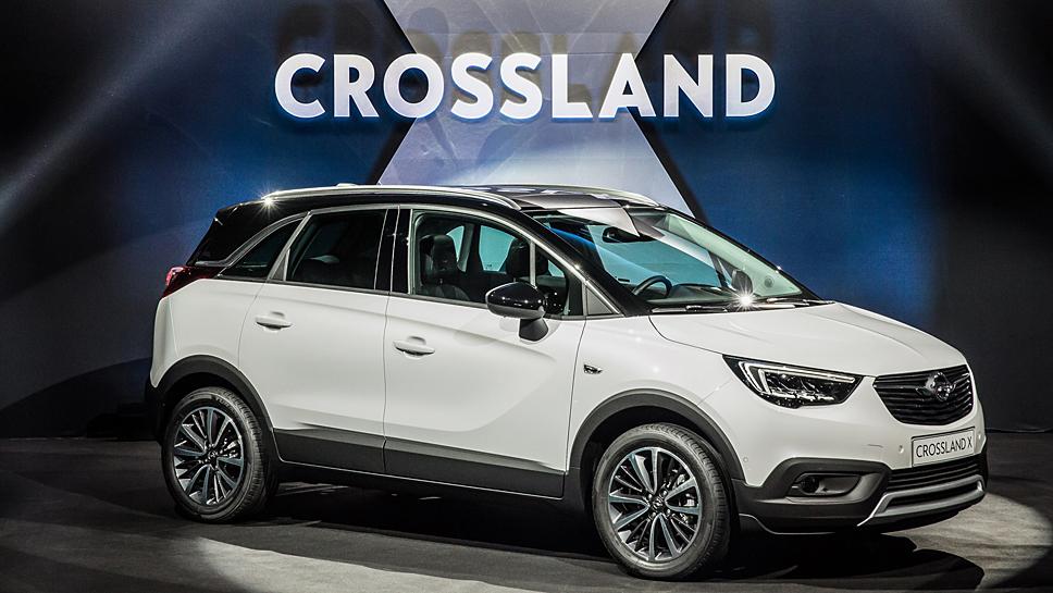 Opel hat den Crossland X während einer Vernissage vorgestellt