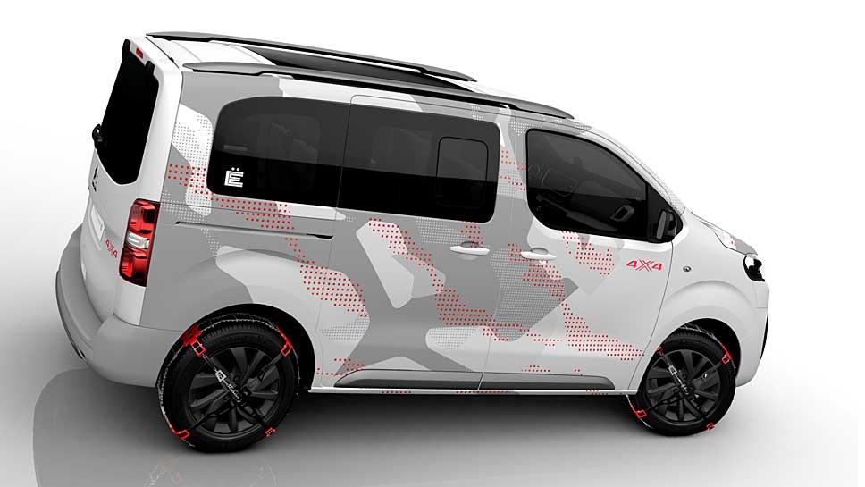 Citroen präsentiert in Genf den Spacetourer 4X4 Ë Concept