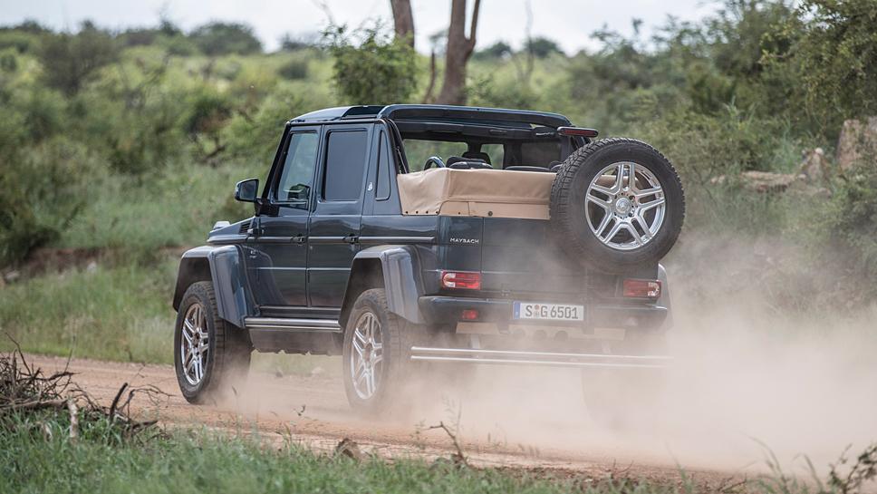 Fürstlich durch die Steppe mit dem Mercedes-Maybach-G-650-Landaulet