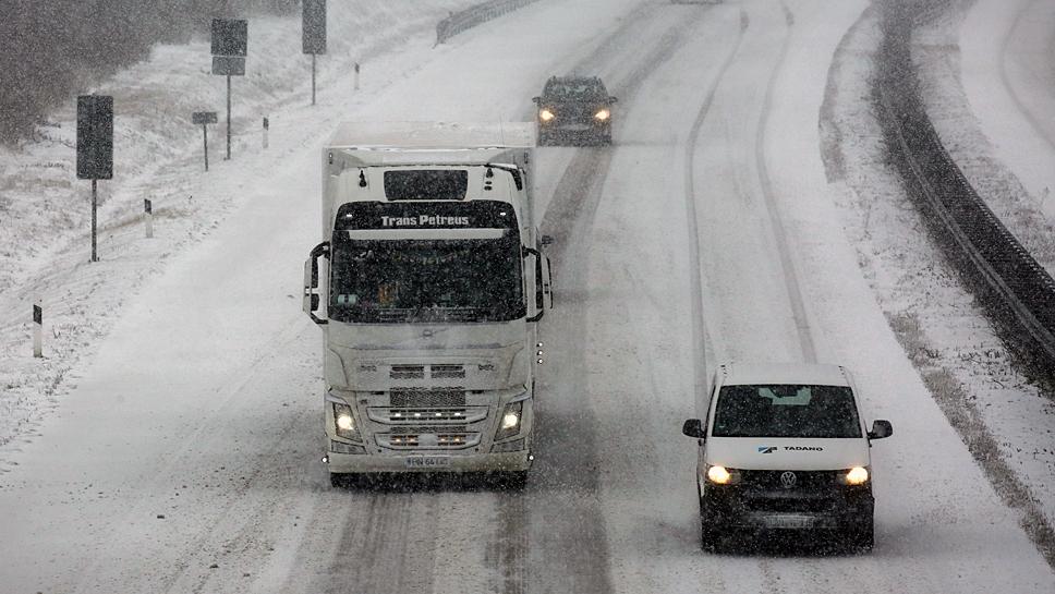Die Fahrt in die Wintersportgebiete dauert etwas länger