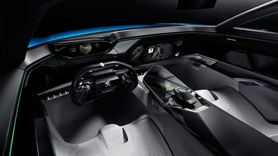 Das Peugeot Instinct Concept stellt sich auf die Vorlieben des Fahrers ein