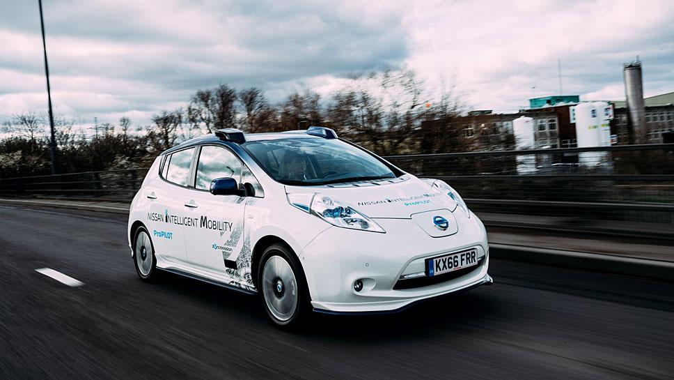 Nissan hat autonome Autos im Londoner Verkehr getestet