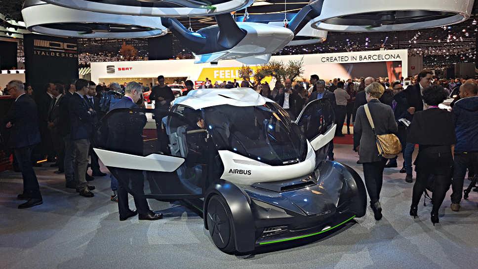 Italdesign und Airbus zeigen in Genf das Flugauto Pop.up