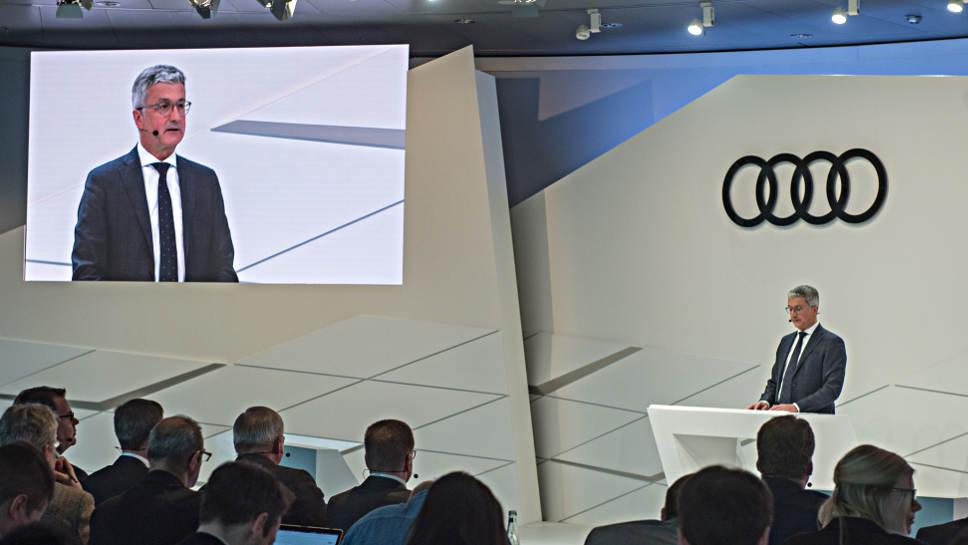 Audi-Chef Rupert Stadler bei der Bekanntgabe des Konzernergebnisses.