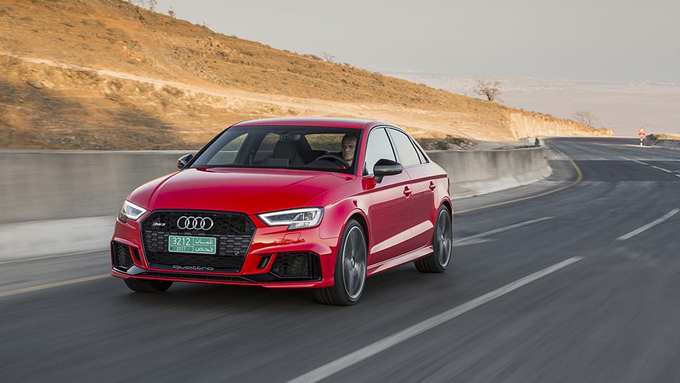 Der Audi RS3 ist mit 400 PS unterwegs