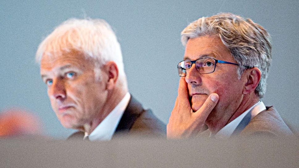 VW-Chef Matthias Müller (l.) und Audi-Chef Rupert Stadler