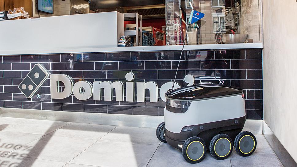 Domino schickt die Pizza autonom zum Kunden